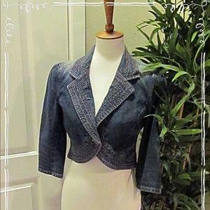 DKNY Jeans Cropped Denum Jacket, Size M